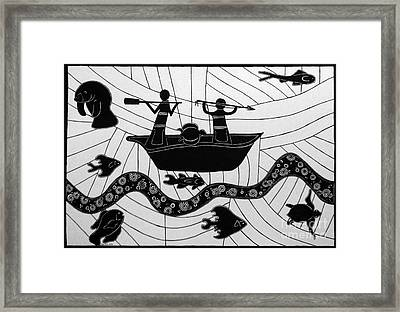 Sea Hunt Framed Print by Megan Dirsa-DuBois
