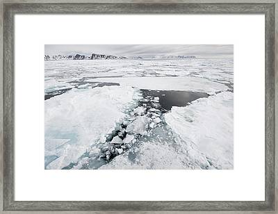 Sea Ice, Norway Framed Print by Science Photo Library