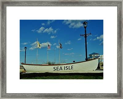 Sea Isle City Framed Print by Ed Sweeney
