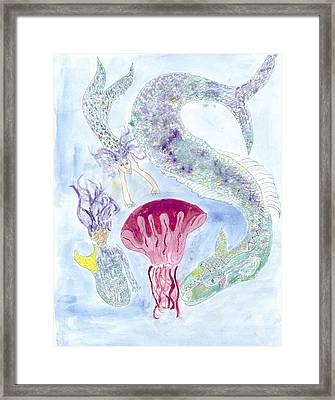 Framed Print featuring the painting Sea Joys by Helen Holden-Gladsky
