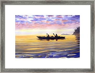 Sea Kayakers Alaska Framed Print by Vladimir Zhikhartsev