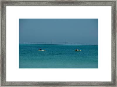 Sea Kayaking Framed Print by Carolyn Dalessandro