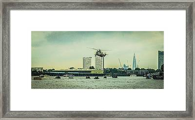 Sea King Helicopter Framed Print by Dawn OConnor