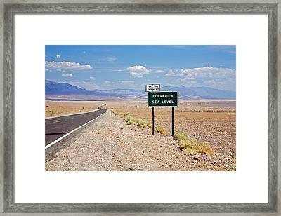 Sea Level In Death Valley National Park Framed Print
