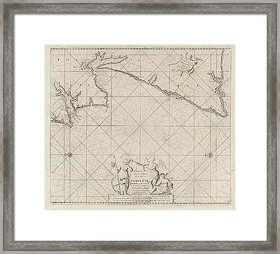 Sea Map Of Part Of The Coast Of Portugal Framed Print