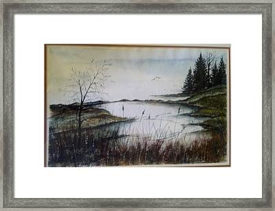 Framed Print featuring the painting Sea Marsh Sold by Richard Benson