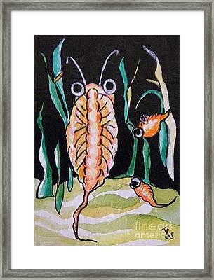 Framed Print featuring the painting Sea Monkey by Joyce Gebauer