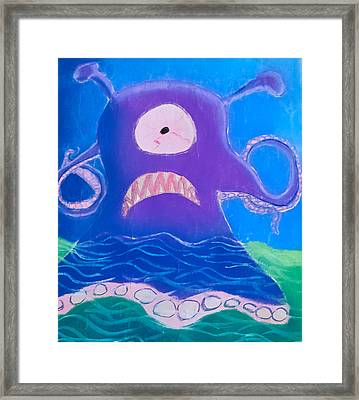 Monsterart Sludge Framed Print