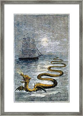 Sea Monster, Legendary Creature Framed Print by Photo Researchers