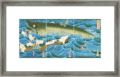Sea Monster Framed Print by Pg Reproductions