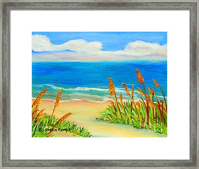 Sea Oat Path Framed Print