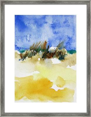 Sea Oats Framed Print by Julianne Felton