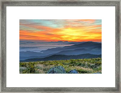 Sea Of A Sunrise Framed Print by Mary Anne Baker