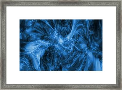 Sea Of Blue - Abstract Art Framed Print