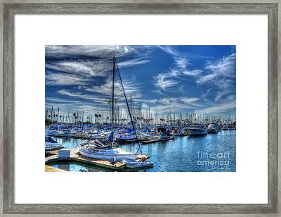 Sea Of Blue Framed Print