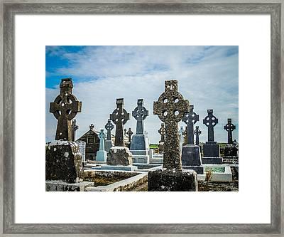 Sea  Of Celtic Crosses Framed Print