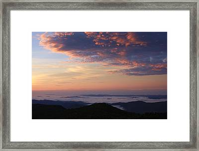 Sea Of Clouds Blue Ridge Mountains Framed Print