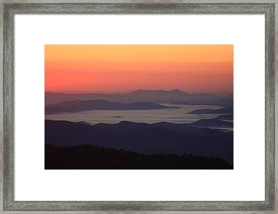 Sea Of Clouds-blue Ridge Mountains Nc Framed Print