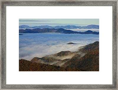 Sea Of Clouds In The Courthouse Valley-blue Ridge Parkway Framed Print