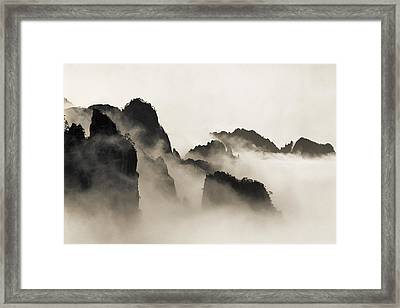 Sea Of Clouds Framed Print by King Wu