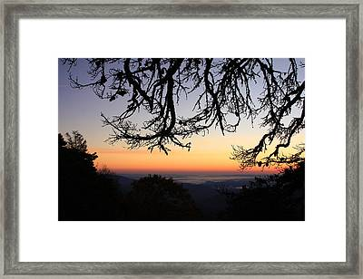 Sea Of Clouds On The Blue Ridge Framed Print