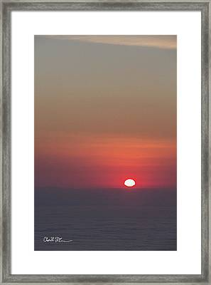 Sea Of Clouds Sunset Framed Print