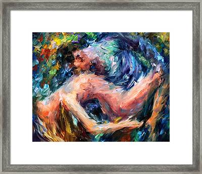 Sea Of Feelings - Palette Knife Oil Painting On Canvas By Leonid Afremov Framed Print