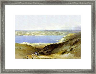 Sea Of Galilee Framed Print