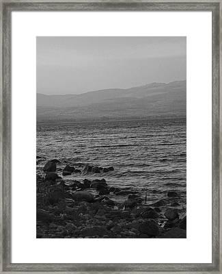 Sea Of Galilee Framed Print by Sandra Pena de Ortiz