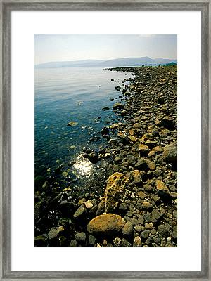 Sea Of Galilee Shore Framed Print