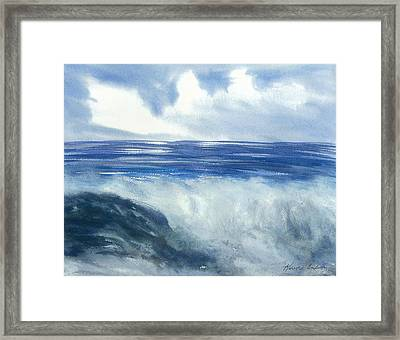 Sea Of Glory  Framed Print by Karen  Condron