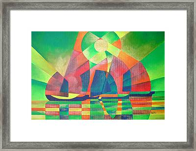 Framed Print featuring the painting Sea Of Green by Tracey Harrington-Simpson