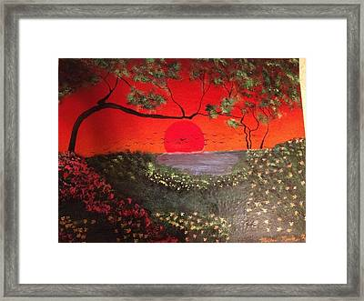 Framed Print featuring the painting Sea Of Japan by Michael Rucker