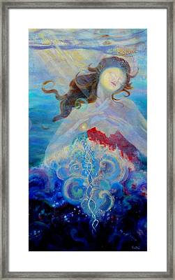 Sea Of The Soul Figure Detail Framed Print