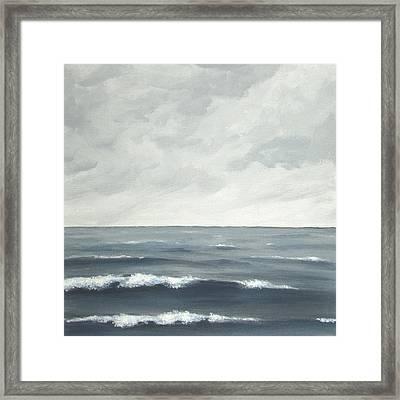 Sea On A Grey Day Framed Print by Anna Bronwyn Foley