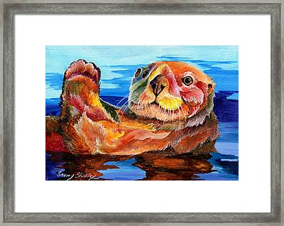 Sea Otter Framed Print