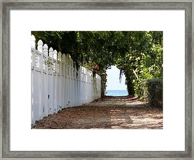 Passage To Sea Framed Print