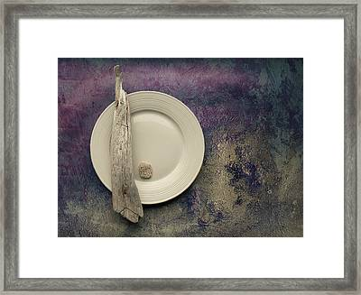 Sea Plate - S22v2b3 Framed Print