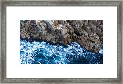 Sea Rocks Framed Print by Frank Tschakert