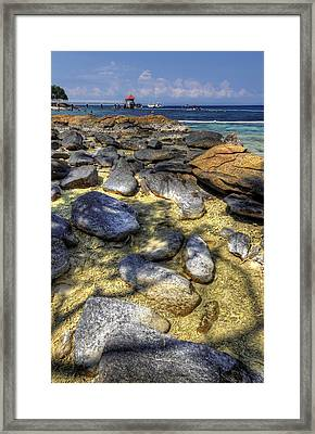 Sea Rocks Framed Print by Mario Legaspi