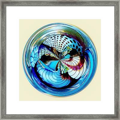 Sea Shell Orb Framed Print by Paulette Thomas