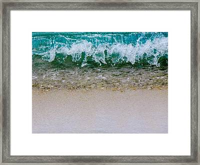Sea Shore Colors Framed Print