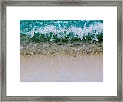 Sea Shore Colors Framed Print by Debra Martz