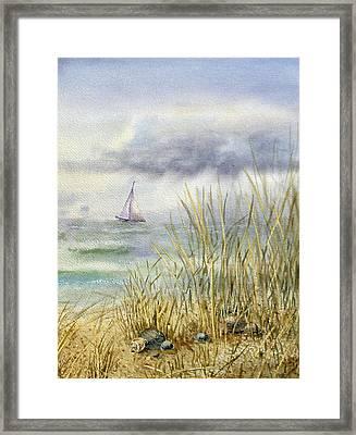 Sea Shore Framed Print by Irina Sztukowski