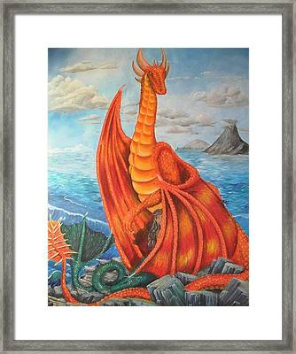 Sea Shore Pair Framed Print