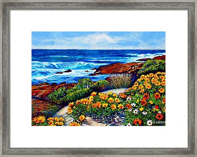 Sea Side Spring Framed Print