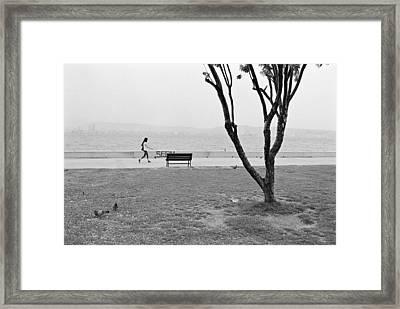 Sea-side Walk Framed Print by Ilker Goksen