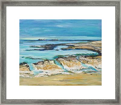 Sea Sky And Beach Framed Print