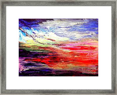 Sea Sky I Framed Print by Karen  Ferrand Carroll