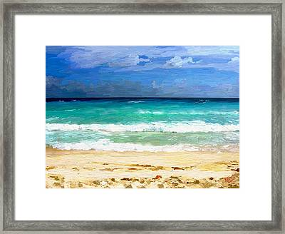 Sea Sky Sand Framed Print by James Shepherd